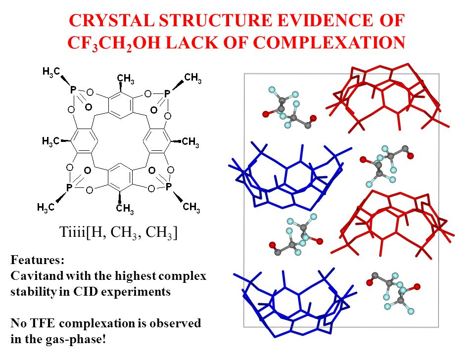 CRYSTAL STRUCTURE EVIDENCE OF CF3CH2OH LACK OF COMPLEXATION