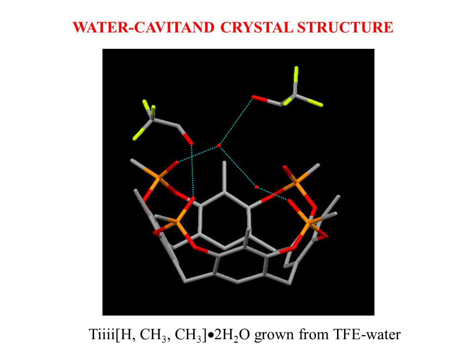WATER-CAVITAND CRYSTAL STRUCTURE