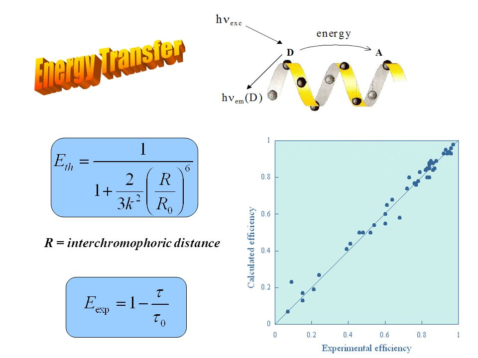 Energy Transfer R = interchromophoric distance