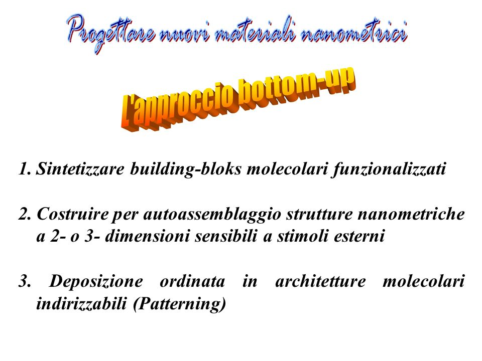 Progettare nuovi materiali nanometrici