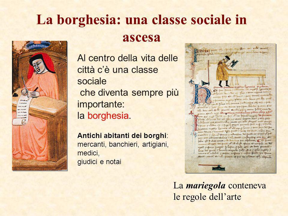 La borghesia: una classe sociale in ascesa