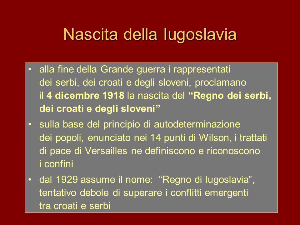Nascita della Iugoslavia