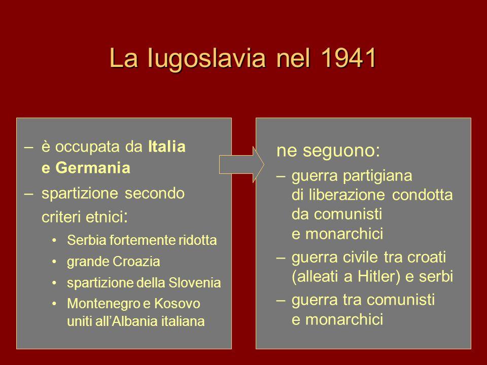 La Iugoslavia nel 1941 ne seguono: è occupata da Italia e Germania