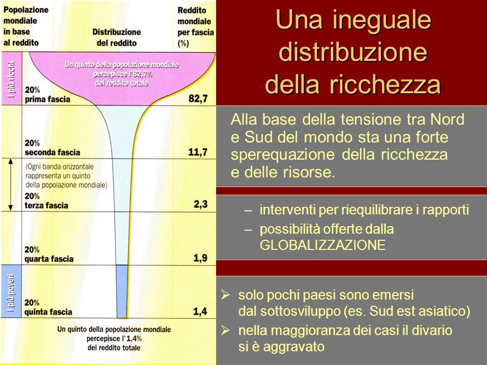 Una ineguale distribuzione della ricchezza