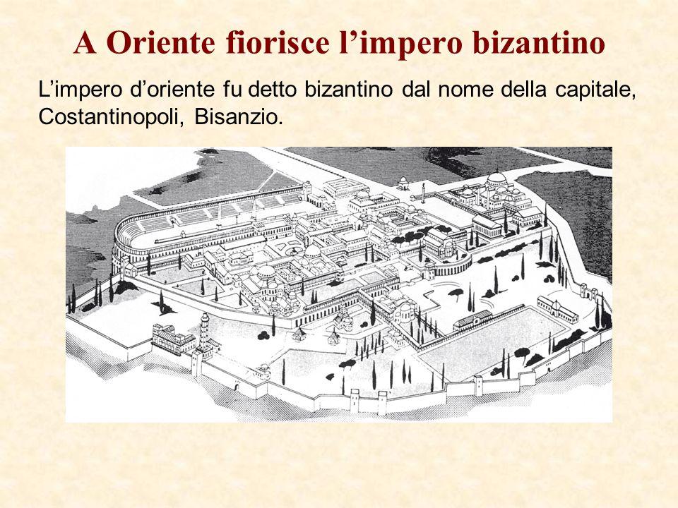 A Oriente fiorisce l'impero bizantino