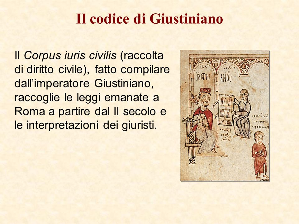 Il codice di Giustiniano