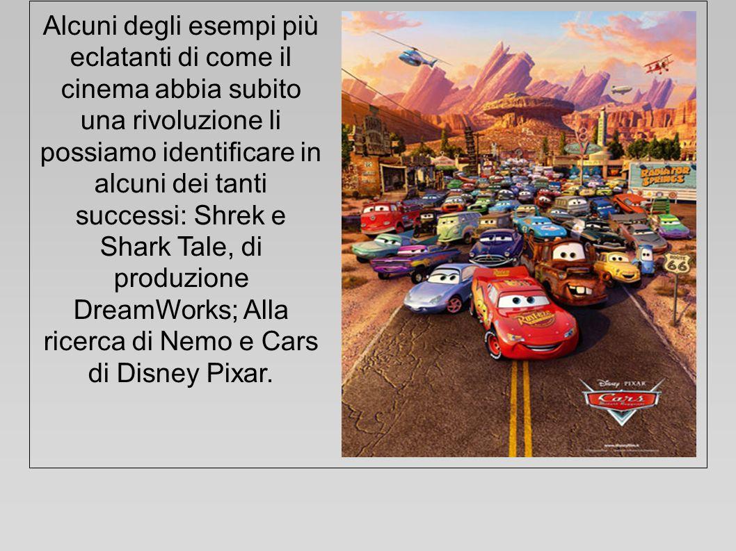 Alcuni degli esempi più eclatanti di come il cinema abbia subito una rivoluzione li possiamo identificare in alcuni dei tanti successi: Shrek e Shark Tale, di produzione DreamWorks; Alla ricerca di Nemo e Cars di Disney Pixar.