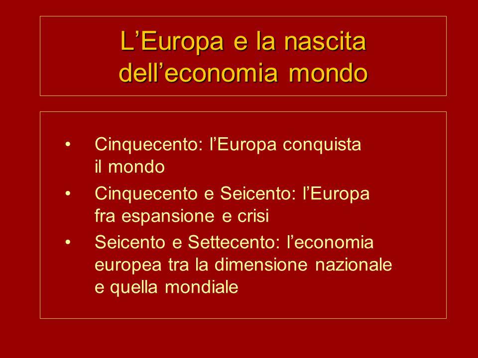 L'Europa e la nascita dell'economia mondo