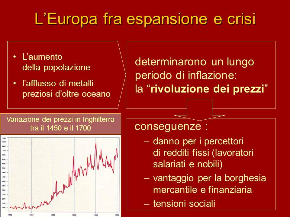 L'Europa fra espansione e crisi