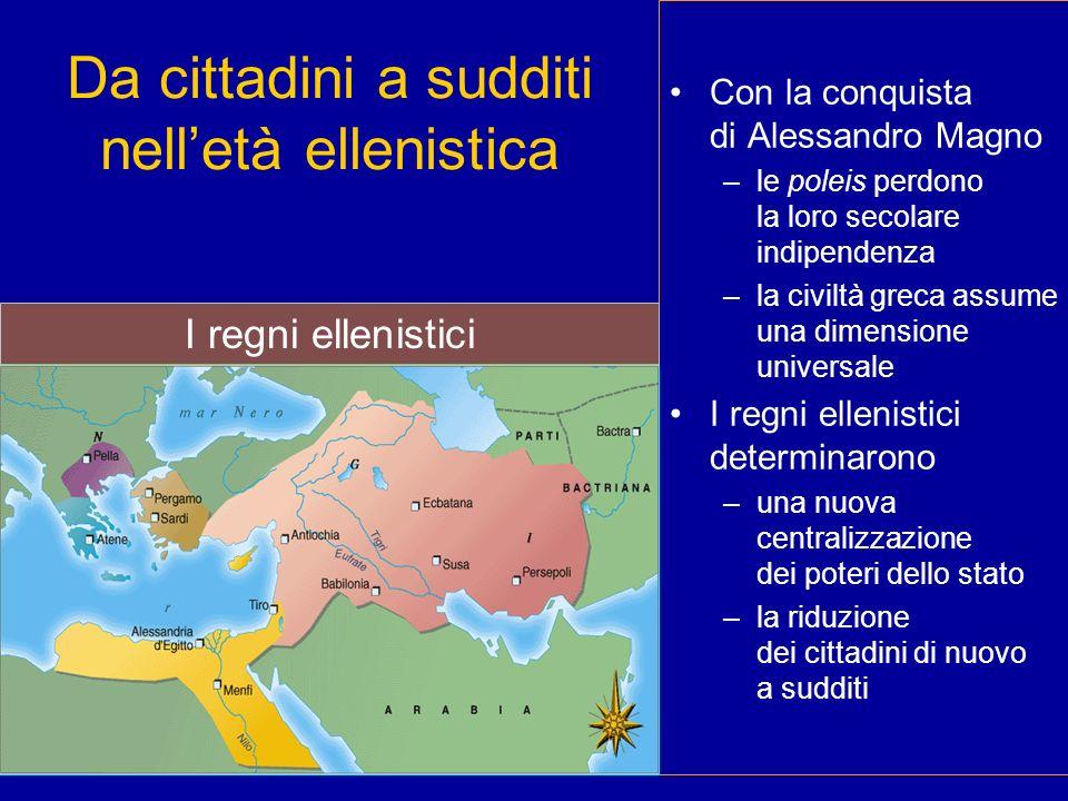 Da cittadini a sudditi nell'età ellenistica
