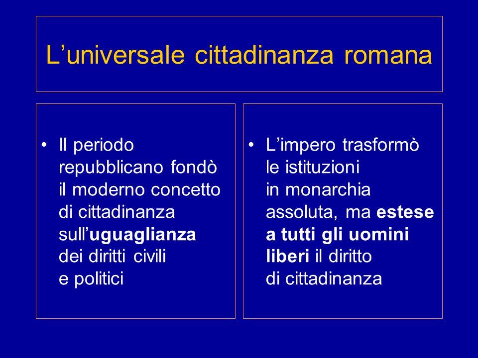 L'universale cittadinanza romana