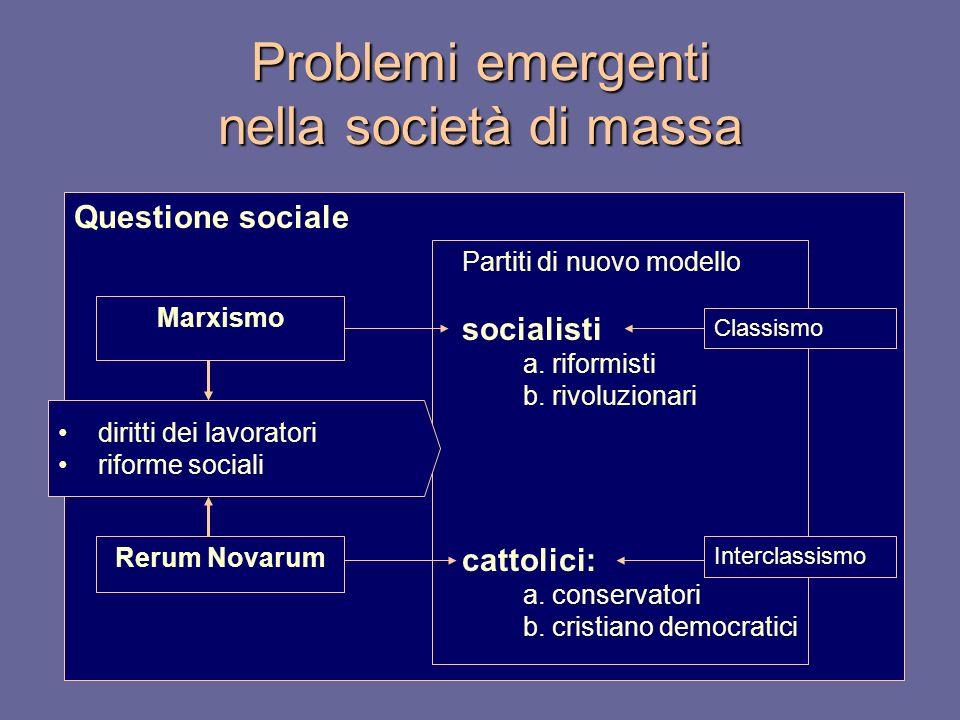 Problemi emergenti nella società di massa
