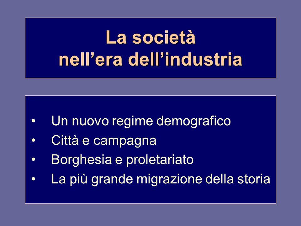 La società nell'era dell'industria