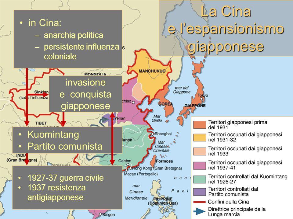 La Cina e l'espansionismo giapponese