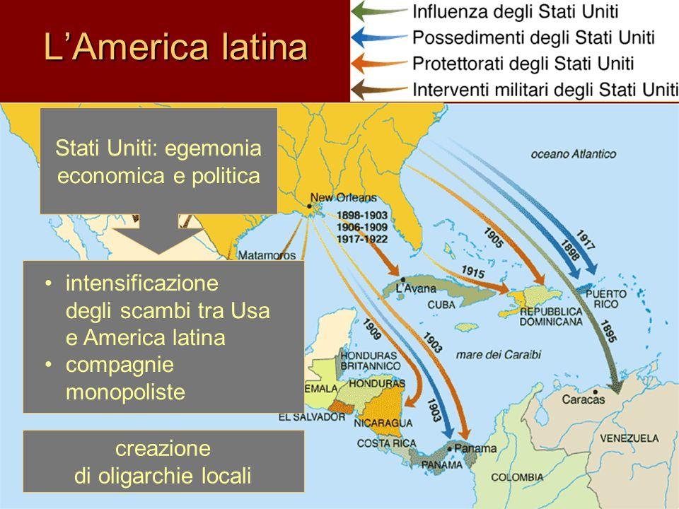 L'America latina Stati Uniti: egemonia economica e politica