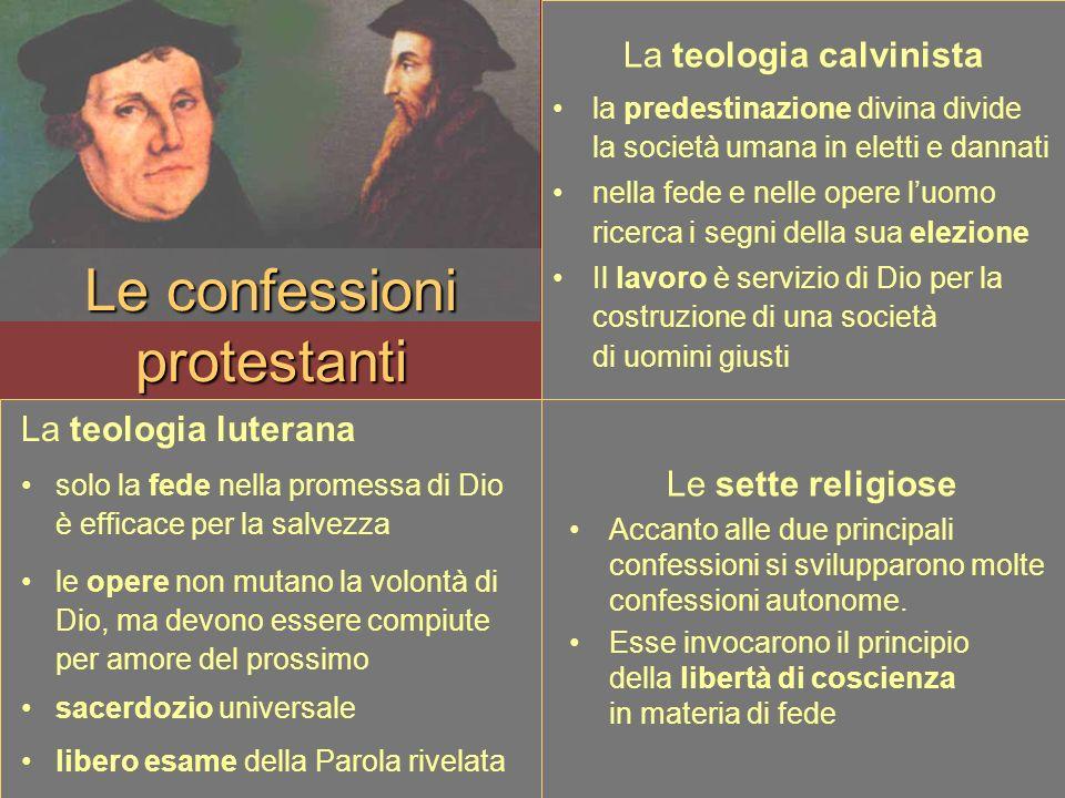 Le confessioni protestanti