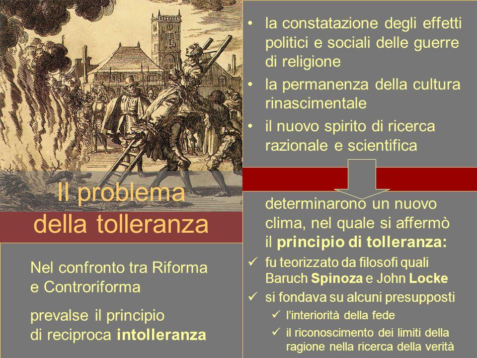 Il problema della tolleranza