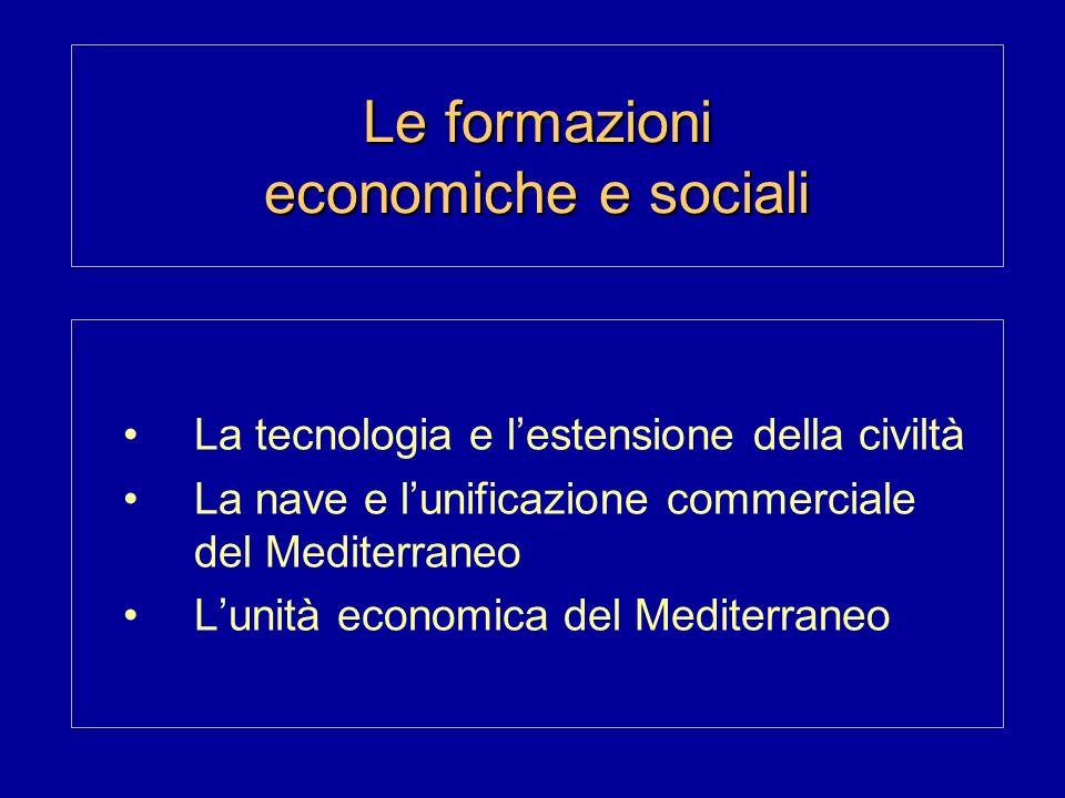 Le formazioni economiche e sociali