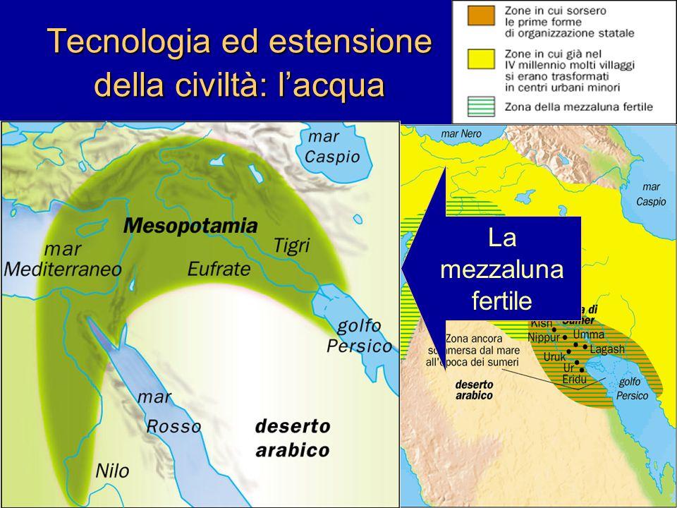 Tecnologia ed estensione della civiltà: l'acqua