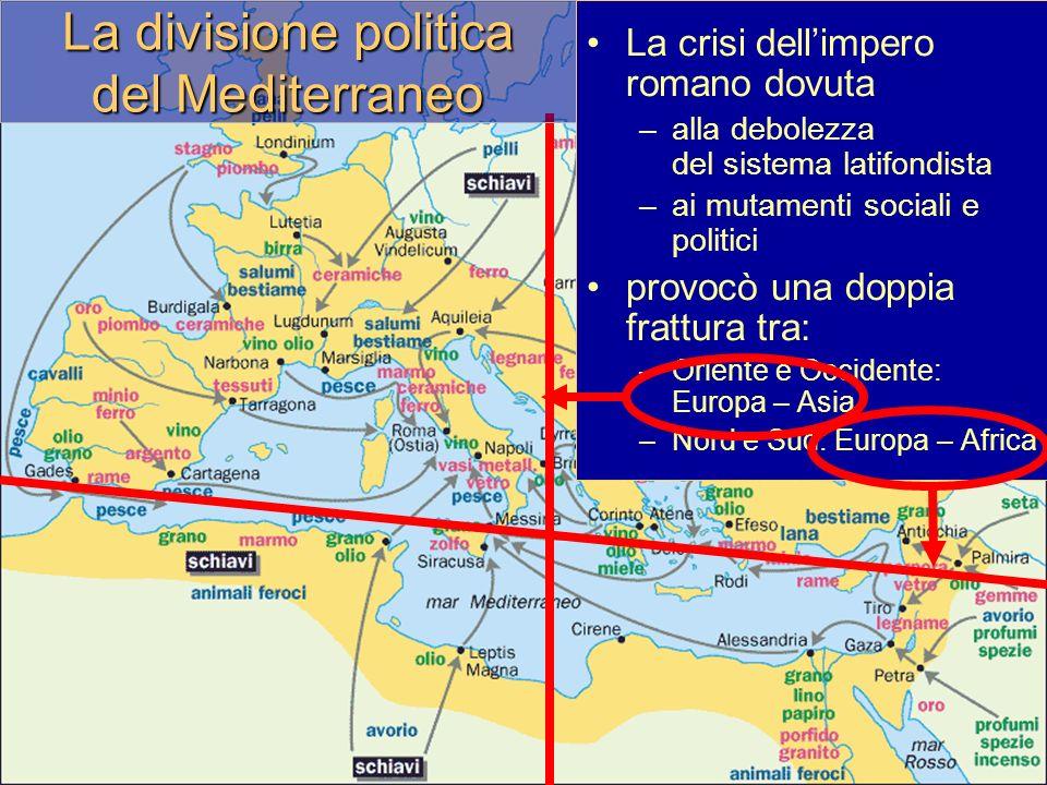 La divisione politica del Mediterraneo