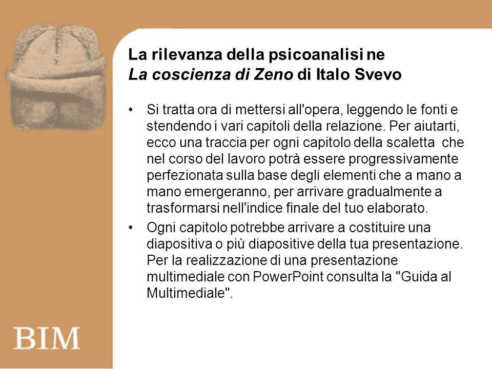 La rilevanza della psicoanalisi ne La coscienza di Zeno di Italo Svevo