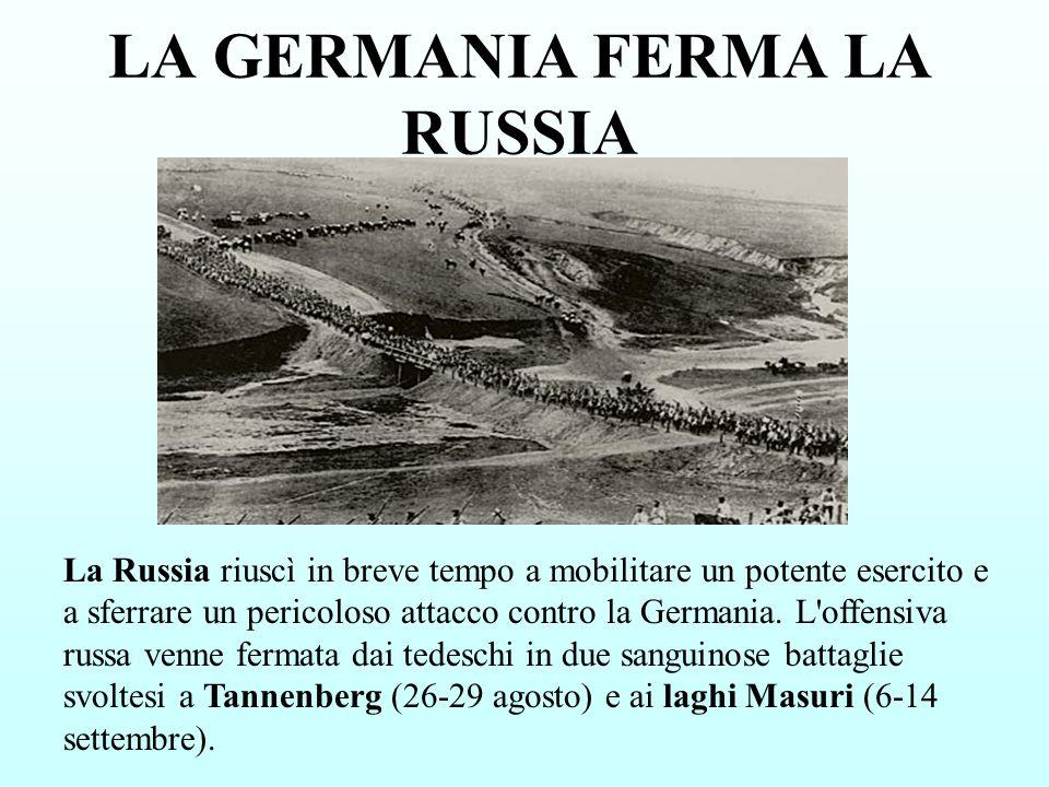 LA GERMANIA FERMA LA RUSSIA