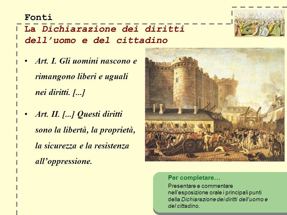 Fonti La Dichiarazione dei diritti dell'uomo e del cittadino