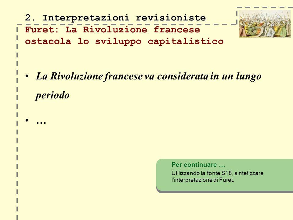 La Rivoluzione francese va considerata in un lungo periodo
