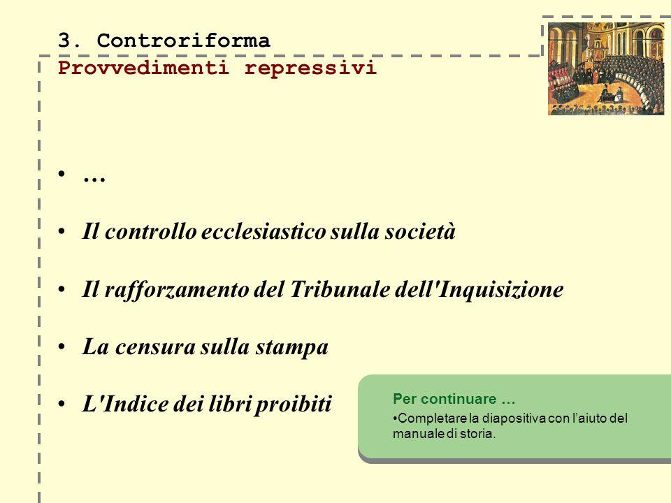3. Controriforma Provvedimenti repressivi