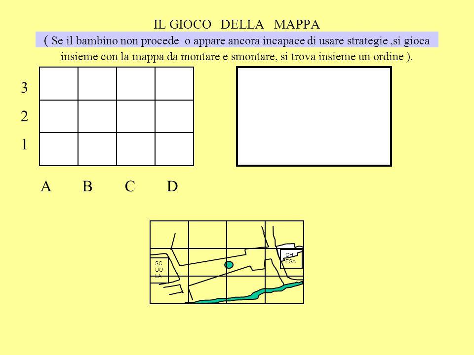 IL GIOCO DELLA MAPPA ( Se il bambino non procede o appare ancora incapace di usare strategie ,si gioca insieme con la mappa da montare e smontare, si trova insieme un ordine ).