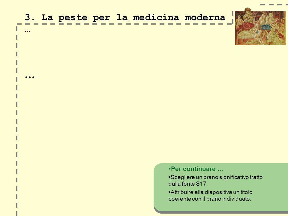3. La peste per la medicina moderna …