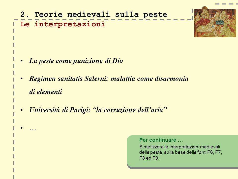 2. Teorie medievali sulla peste Le interpretazioni