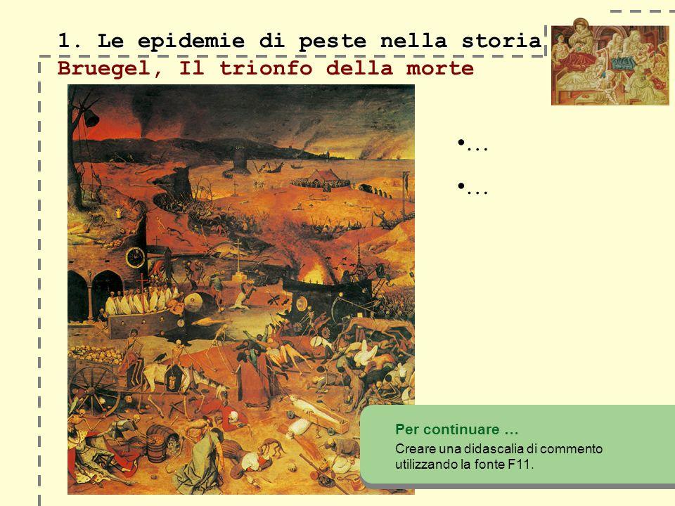 1. Le epidemie di peste nella storia Bruegel, Il trionfo della morte