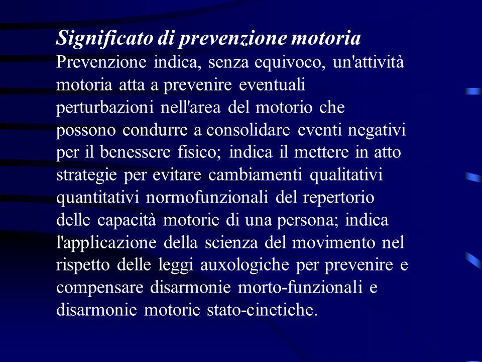 Significato di prevenzione motoria