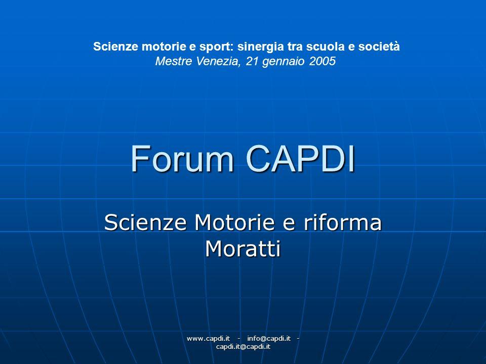 Scienze Motorie e riforma Moratti