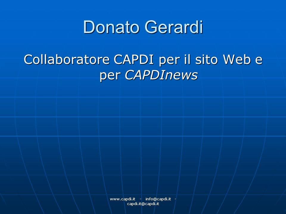 Donato Gerardi Collaboratore CAPDI per il sito Web e per CAPDInews