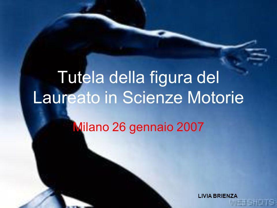 Tutela della figura del Laureato in Scienze Motorie
