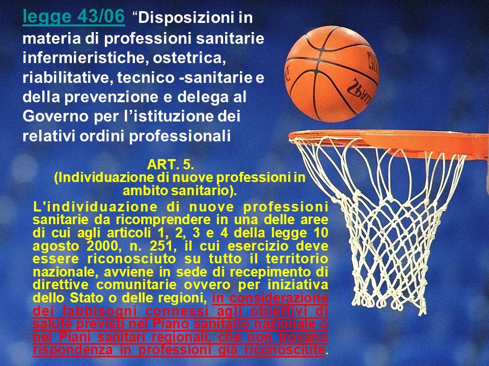 ART. 5. (Individuazione di nuove professioni in ambito sanitario).