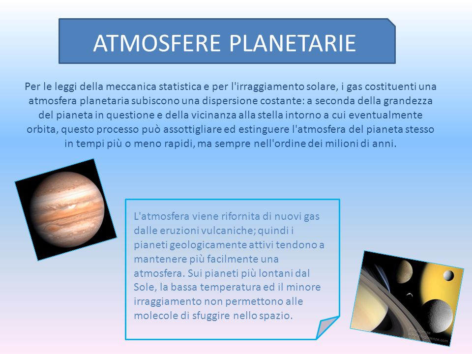ATMOSFERE PLANETARIE