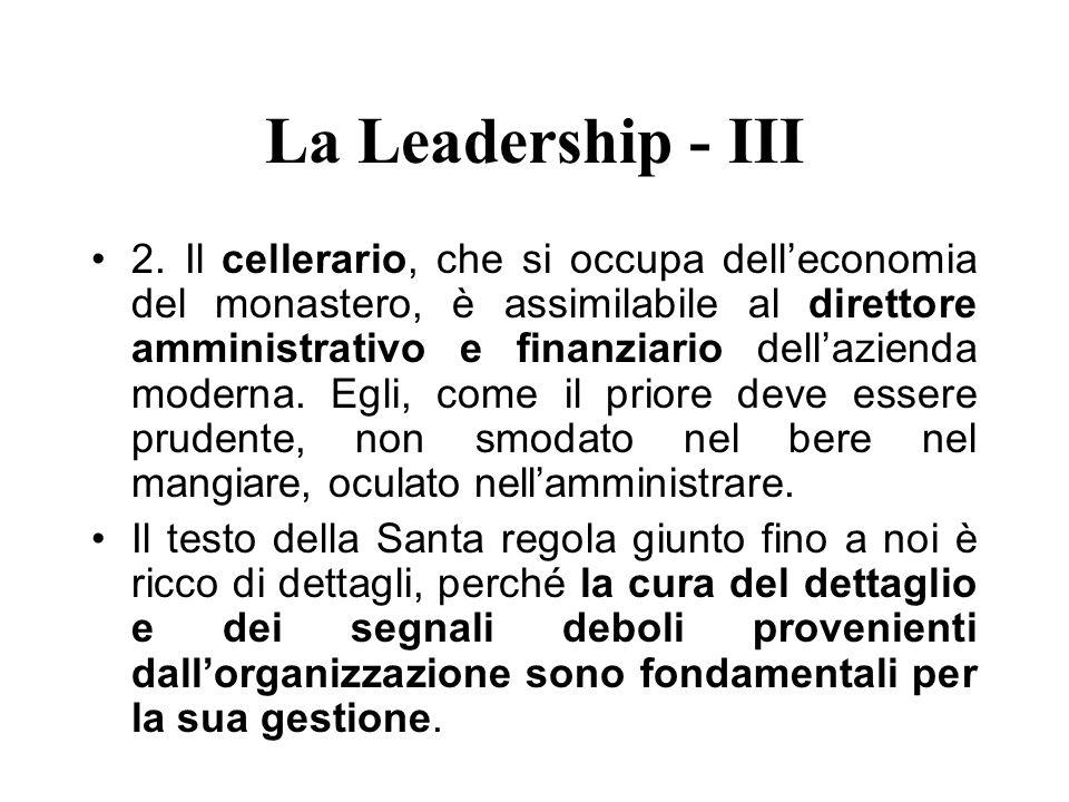 La Leadership - III