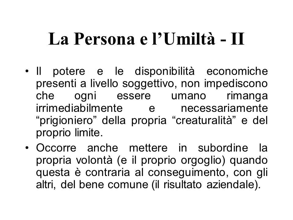 La Persona e l'Umiltà - II