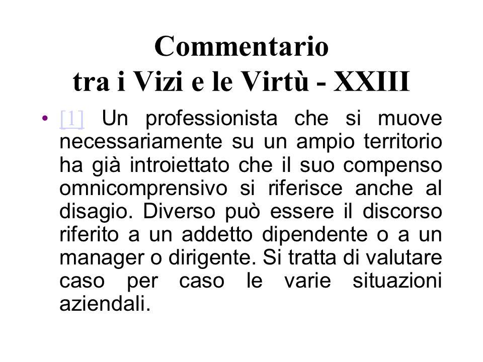 Commentario tra i Vizi e le Virtù - XXIII