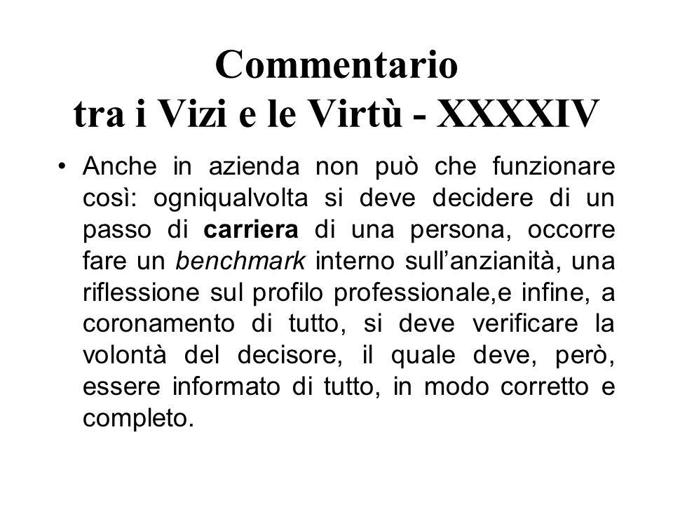 Commentario tra i Vizi e le Virtù - XXXXIV