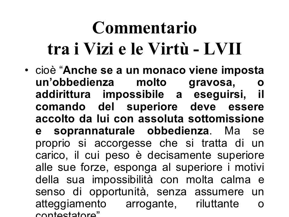 Commentario tra i Vizi e le Virtù - LVII