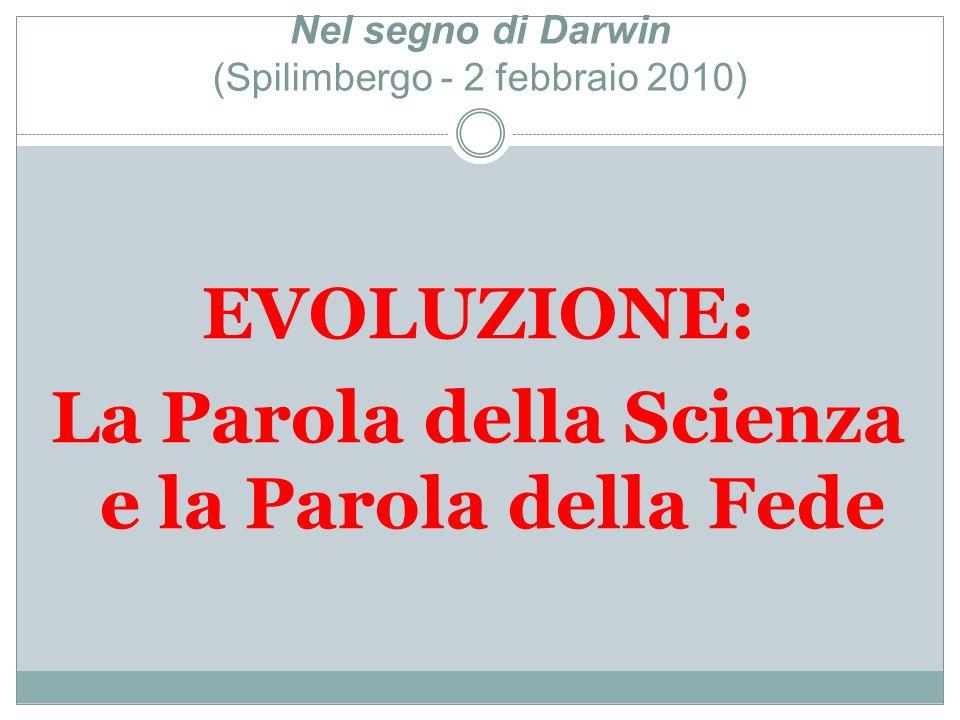 Nel segno di Darwin (Spilimbergo - 2 febbraio 2010)