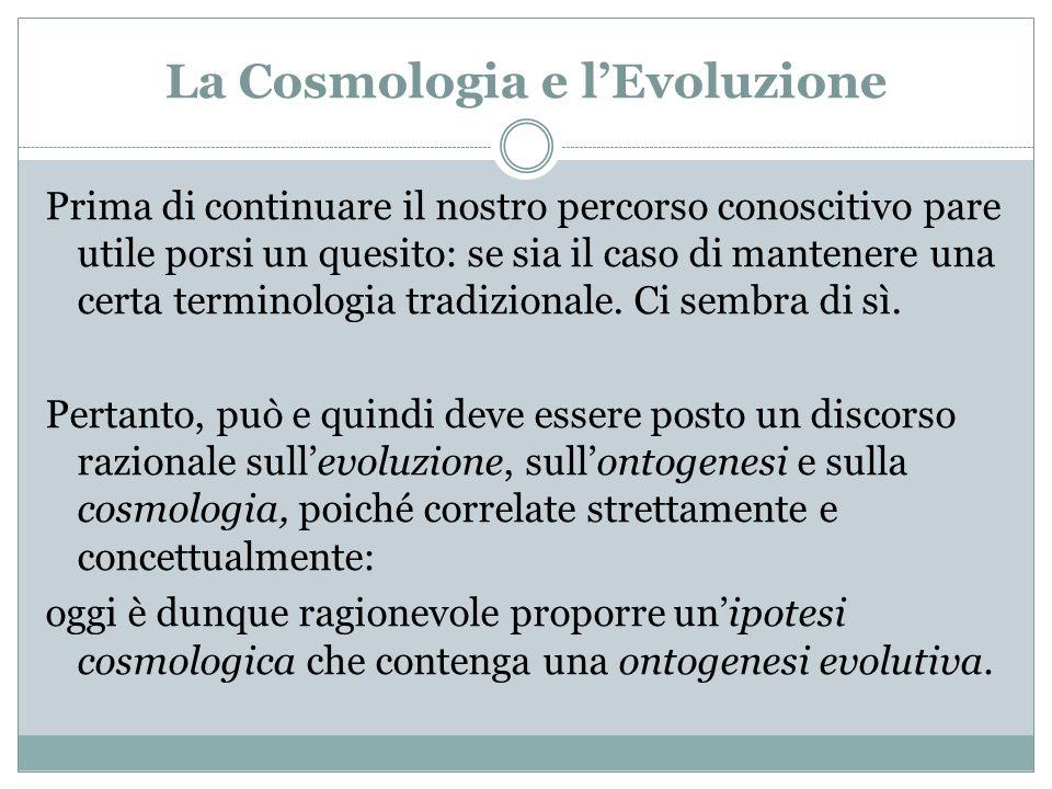 La Cosmologia e l'Evoluzione