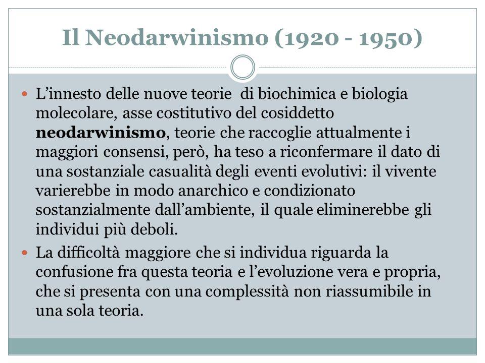 Il Neodarwinismo (1920 - 1950)