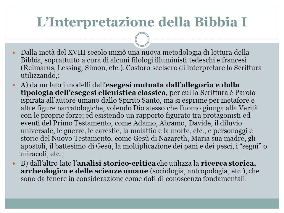L'Interpretazione della Bibbia I