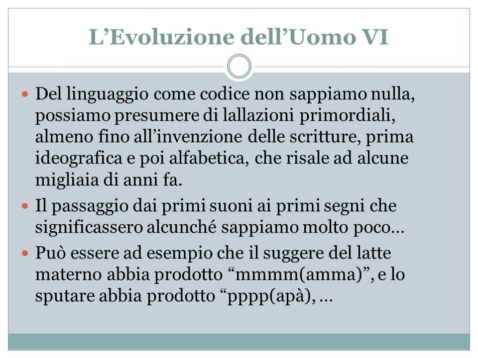 L'Evoluzione dell'Uomo VI