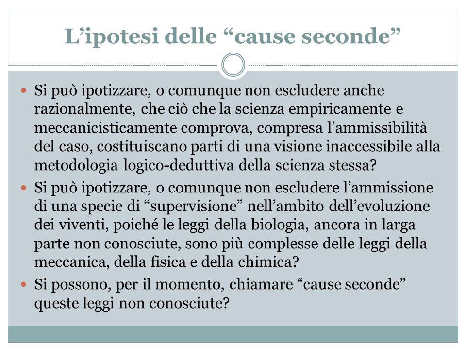L'ipotesi delle cause seconde